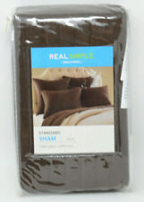 Real Simple Dune Standard Pillow Sham in Chocolate - Dark Brown