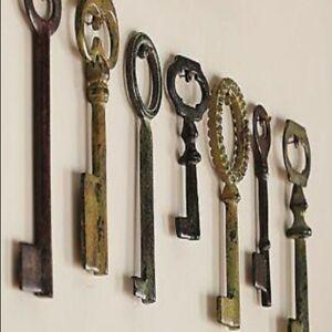 Pottery Barn Set of Skeleton Keys, No Damage.