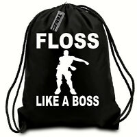 Floss Like A Boss Drawstring bag, Gym bag,Swimming bag,Water resistant