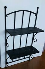 Vintage Wrought Iron Metal Wall Mounted Shelf Rack Home Decor