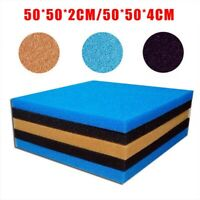 50x50cm Biological Cotton Filter Foam Pond Aquarium Fish Tank Sponge Pad 2/4cm