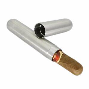 Edelstahl Zigarren Tube Box Tabak Zigarrenrohr Aufbewahrungsbox Humidor Geschenk