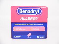 Benadryl Ultratabs Antihistamine Allergy Relief Tablets, HCl, 25mg, 48 Ct