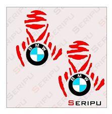 X2 PEGATINAS  DAKAR BMW   STICKERS MOTO VINILO ENDURO TUNING ADESIVO