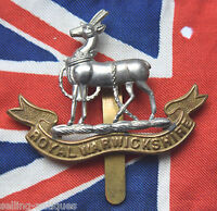 "WW1 Royal Warwickshire Regiment ""Extruded"" - Genuine British Military Cap Badge"