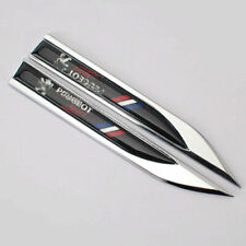 2pcs Auto Metal Black Car Lion Blade Emblems Badge Sticker For Peugeot auto