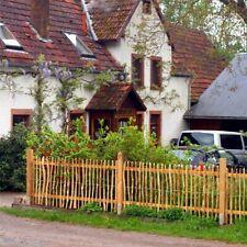 Staketenzaun Haselnuss | Kastanienzaun Latten Roll Natur Garten Holz Zaun Zäune