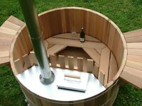 Cedar Wood Hot Tub Plans DIY Outdoor Spa Bath Relax Woodworking Build Your Own
