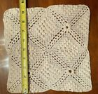 Vintage+1950%27s+Crochet+Hot+Pad+Doilie+White+9%22+Square+Never+used+