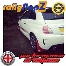 rallyflapz FIAT 500 ABARTH PARAFANGHI & KIT MONTAGGIO ROSSO ' SCORP 'Bianco -