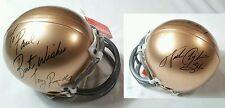 Walter Payton Chicago Bears-Tony Rice Notre Dame Autographed Signed Mini Helmet