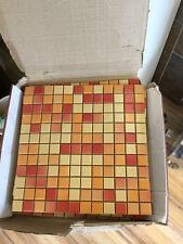 Engers OHIO OHI 460 gelb-orange-rot 2.5 x 2.5cm Steinzeug glasiert Mosaik 30x30
