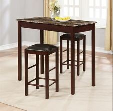 Dining Tables For Small Spaces Kitchen Sets Chairs 3pc For 2 Breakfast Apartment