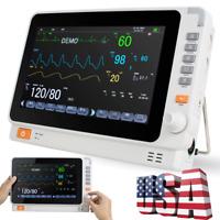 Newest 10'' ICU Vital Sign TFT Dental Patient Monitor ECG NIBP RESP TEMP SPO2 PR