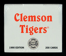 1990 CLEMSON TIGERS FACTORY SEALED COLLEGIATE COLLECTION COMPLETE 200 CARD SET