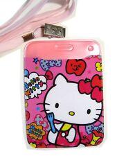 Hello Kitty Pink Apple Vinyl Glitter Lanyard Badge Holder
