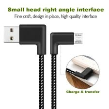 90 Degree Angle Connector Tangle-Free Nylon Braided Smartphone Charger Cabl J5K4