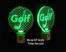 Personalized Golf Ball LED Night Light - Handmade - Man Cave, Personalized Gifts