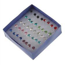 Nuovo 1 scatola 20 paia di orecchini di colore misto con strass J9F4 W6E8