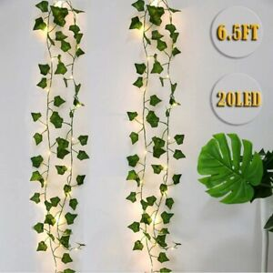Artificial Hanging Leaves 2m Light String Ivy Leaf Vine Home Decoration Plant