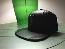 The Flash Zoom Black Pu Leather SnapBack Hat