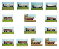Ratio Coaches plastic model kits in OO gauge (14 models)