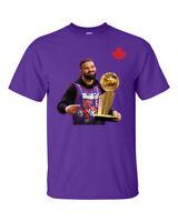 DRAKE TORONTO RAPTORS 2019 NBA CHAMPS T-SHIRT S-XXL