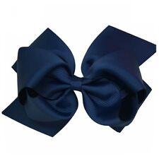 6 Inch Bows Boutique Hair Clip Pin Alligator Clips Grosgrain Ribbon Bow