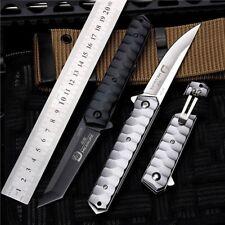 Assisted Open Tactical Folding Pocket Knife Tanto Rescue Knife Window Breaker