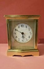 EDWARDIAN BOW FRONTED CARRIAGE CLOCK