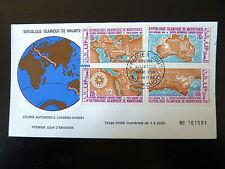 MAURITANIE  AERIEN 94/97    FDC   COURSE AUTO LONDRES SYDNEY  10+70+20+50F  1966