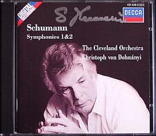 Christoph von DOHNANYI Signiert SCHUMANN Symphony 1 Spring 2 Sinfonien 1988 CD