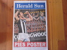 2011 HERALD SUN AFL NEWSPAPER HEADLINE PIES POSTER