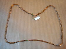 CHAINE PLAQUE OR MAILLE MEDIUM LONG 54 CM 14G VINTAGE NEUF/NEW GOLD PLATED CHAIN