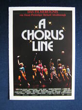 Filmplakatkarte cinema  A Chorus Line