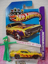 CASE B  2013 Hot Wheels '71 PLYMOUTH ROAD RUNNER 1971 #215☆Yellow☆Showroom