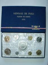 COFFRET 1974 FRANCE MONNAIE DE PARIS FLEUR DE COIN FDC BU 50 Fr HERCULE Argent R