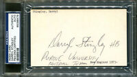Darryl Stingley Signed Index Card 3x5 Purdue Autographed PSA/DNA #65098479
