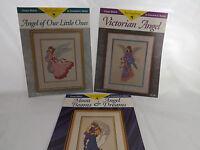 Just CrossStitch Lot of 3 Angel Cross Stitch Patterns by Consuella K. Molton