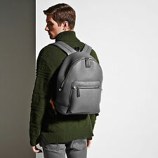 Bally Messi Designer Backpack / Rucksack in Grey MSRP $1395