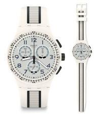 SWATCH Escalator Reloj susw408 Análogo Cronógrafo SILICONA GRIS , negro, blanco
