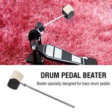 1pc Black Bass Drum Pedal Beater Felt Kick Drum Pedal Hammer Beater High Quality