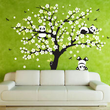 Wall Decal Removable Mural Sticker lovely Panda on flower Tree Wall Decoration