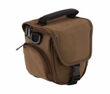Trendz Case Cover Bag with Neck-Strap and Belt Loop for Cameras-Brown