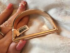 38M LADIES 6.5 INCH rose gold tone Designer love BAR  Nail Bangle, XMAS gift?