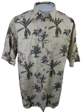 Keeler Bay Men Hawaiian camp shirt pit to pit 26 monkey jungle Aloha luau tiki