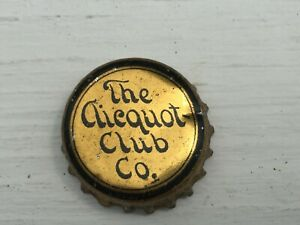 Vintage Used Cork Lined The Clicquot Club Co Soda Bottle Cap