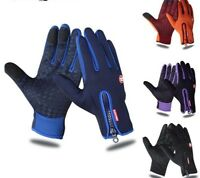 Waterproof Cycling Gloves Full Finger Touch Screen For Men Women Bike Winter New