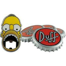 The Simpsons: Duff Beer Coaster And Bottle Opener Set - New & Official In Box