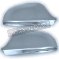 MATT SILVER ALUMINIUM S-LINE STYLE AUDI A3 A4 A5 A6 WING MIRRORS COVERS CUPS CAP